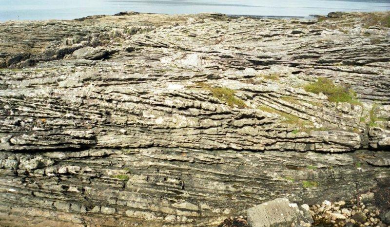 Large scale cross bedded Jurassic Sandstone, Elgol, Isle of Skye