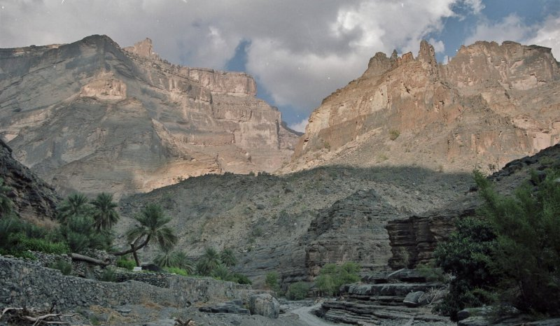 Cretaceous outcropping in Wadi Nakhr, Oman