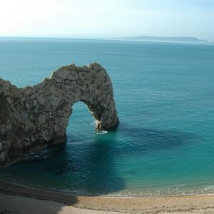 Isle of Portland viewed from Durdle Door, Dorset