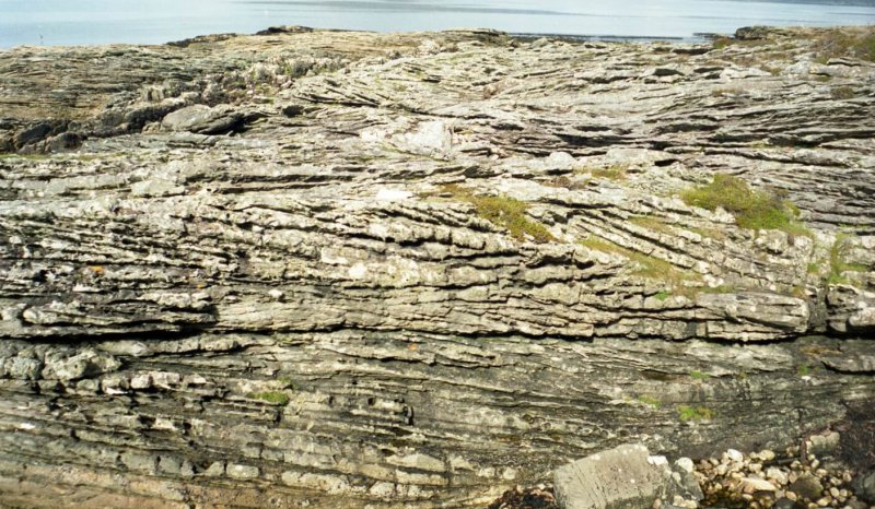 Large scale cross bedded Jurassic Sandstone, Elgol, Isle of Skye