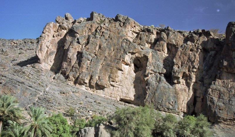 Natih A Formation at the entrance to Wadi Nakhr, Oman