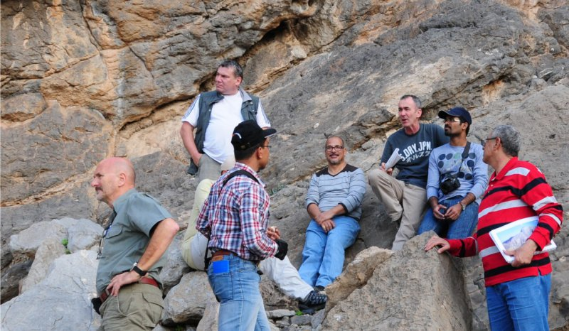 Fieldtrip to the Natih Formation, Hawasinah Window, Central Oman Mountains