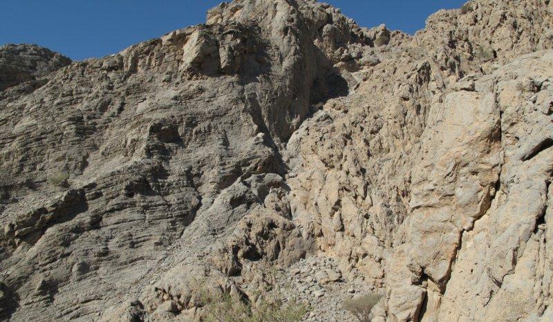 Jurassic onlap of Norian forereef talus, Wadi Ausaq