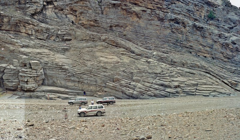 Synsedimetary glide planes in Lower Cretaceous slope deposits, Wadi Idhn