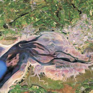 Satellite image of Loughor Estuary