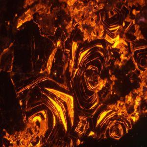 Cathodoluminescence image of zoned calcite